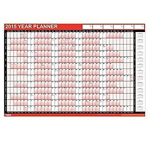 2015 Year Wall Planner - Large Size Laminated: Amazon.co.uk: Office ...