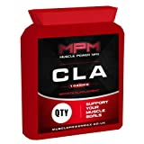 Muscle Power Max - 120 CLA 1000mg Capsules - HIGH STRENGTH - Flat Bottle - Sports and Diet Supplement - Supports Weight Management and General Health - Manufactured in the UK
