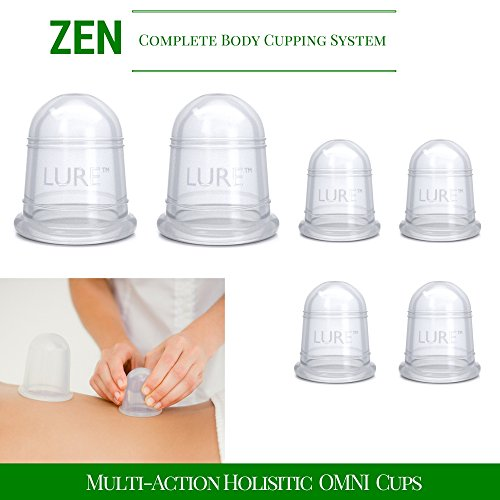 *FLASH SALE* Cupping Massage Set for Deep Tissue Muscle Soreness, Trigger Point, Cellulite, Restores Fascia - 6 Cups