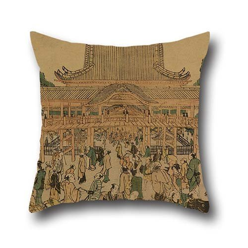 16 X 16 Inches / 40 By 40 Cm Oil Painting Tamagawa Shucho - Toeizan In Ueno Throw Cushion Covers ,two Sides Ornament And Gift To Family,outdoor,valentine,kids Boys,gf,husband