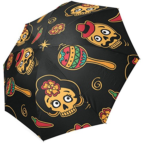 Grrl Cool Sugar Skull Print foldable Umbrella YS060557