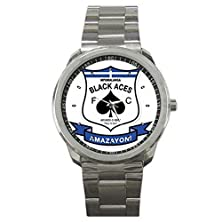 buy Mpumalanga Black Aces Fc South Africa Football Soccer 9Clgo1665 Men'S Wristwatches Stainless Steel