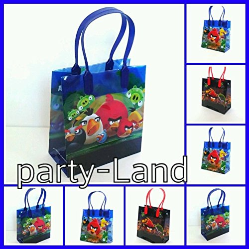 24 Disney ANGRY BIRDS LOOT/GOODY CANDY BAGS Marvel Birthday Child Multi-Color