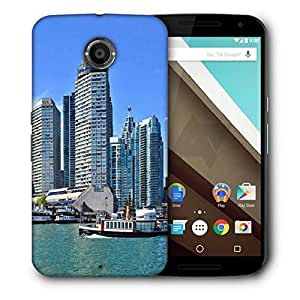 Snoogg Abstract Buildings Designer Protective Phone Back Case Cover For Motorola Nexus 6