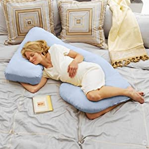 Today's Mom Cozy Cuddler Pregnancy Pillow - Sky Blue