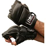 MMA Pro Fight Gloves – Piranha Gear, Black, X-Large