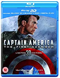 Captain America: The First Avenger (Blu-ray 3D + Blu-ray + DVD + Digital Copy) [2011]