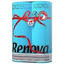 Renova Toilet Paper, 115mm x95mm, 6 Rolls, Blue