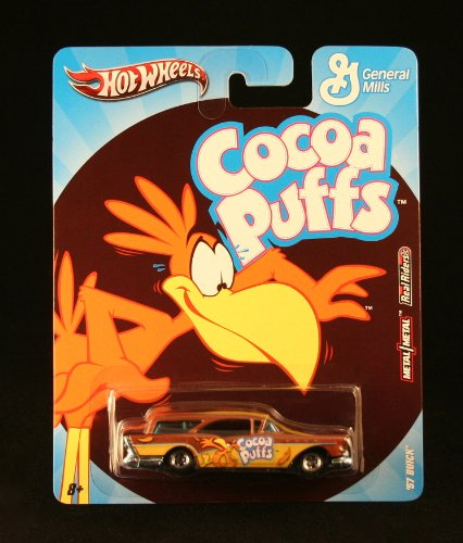 '57 BUICK * COCOA PUFFS * Hot Wheels General Mills Cereal 2011 Nostalgia Series 1:64 Scale Die-Cast Vehicle - 1
