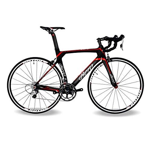 BEIOU-2016-700C-Rennrad-Shimano-105-Bike-5800-11S-Rennrad-T800-M40-Carbon-Aero-Rahmen-Ultra-light-183lbs-CB013A-2-Matte-BlackRed-560mm