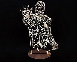 GetTen® Home Decorative Light Creative Led 3 D Visual Fantasy Light Romantic Ironman Robot Atmosphere Light