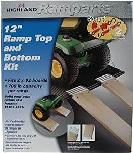 Highland (1100600) Ramparts 12 Aluminum Ramp Top and Bottom Kit with Tie Downs by Highland