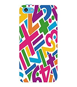ColourCraft Typography Design Back Case Cover for APPLE IPHONE 5C