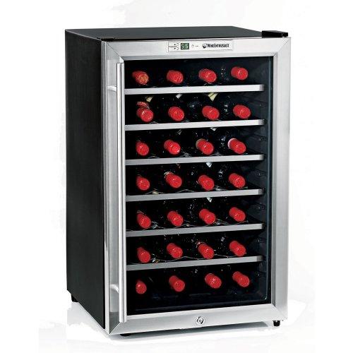 Wine Enthusiast Silent 28 Bottle Wine Refrigerator -Stainless Steel Trim Door