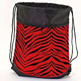 Pizzazz Performance Wear ST50AP -RED -L ST50AP Zebra StringPack / Pom Bag - Red - Large