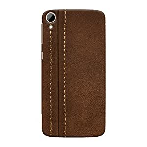 ColourCrust HTC Desire 828 / Dual Sim Mobile Phone Back Cover With Leather Look - Durable Matte Finish Hard Plastic Slim Case