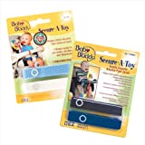 Baby Buddy 4 Count Secure-A-Toy Straps, Navy/Royal/Blue/White