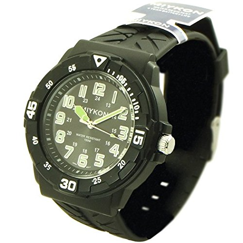 80d2a1c9b1f06 Miykon High Quality Sport style watch for men silver tone and greenish  numbers 4