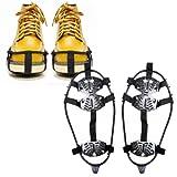 靴 滑り止め 靴の滑り止め 登山用 軽型 アイゼン コンパクトに収納できる 雪道 ブーツやシューズに (Mサイズ(対応靴サイズ:22~25cm))