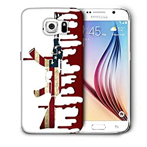 Snoogg Us Ak47 White Designer Protective Back Case Cover For SAMSUNG GALAXY S6