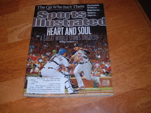 2011 World Series-Texas Rangers & St. Louis Cardinals-Sports Illustrated magazine, October 31, 2011-Texas Rangers catcher Yorvit Torrealba & Cardinals' Jon Jay on cover. at Amazon.com