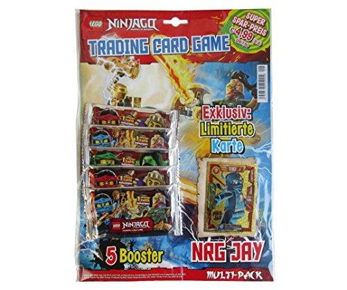 LEGO Ninjago Trading Cards - 5 Booster MULTI-PACK 2 (+ 2 exklusive Karten