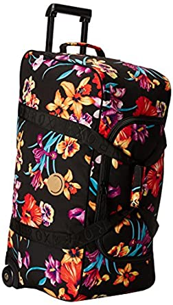 Roxy Women's Jungle Leaves Wheelie Luggage, True Black, One Size