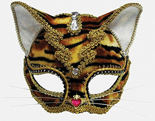 Toddler Animal Jewelled Tiger Cat Eye Mask Masquerade Fancy Dress Costume