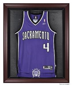 Sacramento Kings Mahogany Finished Logo Jersey Display Case by Sports Memorabilia