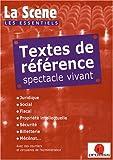 echange, troc Nicolas Marc - Textes de référence spectacle vivant