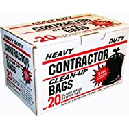 Black Contractor Trash Bag-20CT CONTRACTOR BAGS