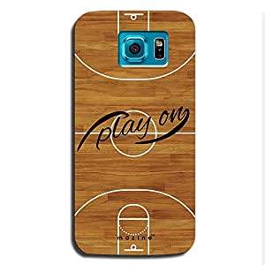 Mozine Play On Printed Mobile Back Cover For Samsung S6