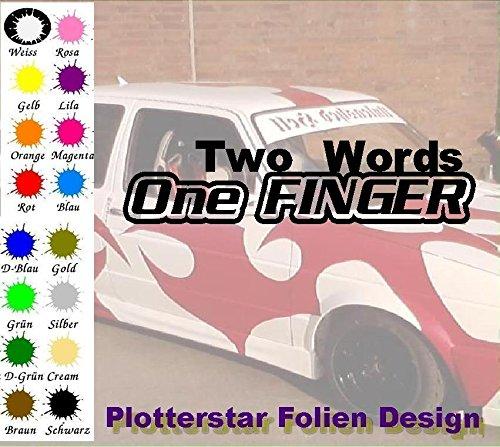 Two Words One dita Apps Folien Design-Adesivo per auto a forma di Minion