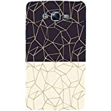 Black And White Zig Zag Pattern Hard Polycarbonate Designer Back Case Cover For Samsung Galaxy J7 J700F (2015) :: Samsung Galaxy J7 Duos (Old Model) :: Samsung Galaxy J7 J700M J700H