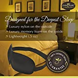 Living Pure - Luxury Sleep Mask | Light Blocking Eye Mask for Sleeping Deeper | Features Memory Foam, Contoured Design & Adjustable Strap | Insomnia Aid