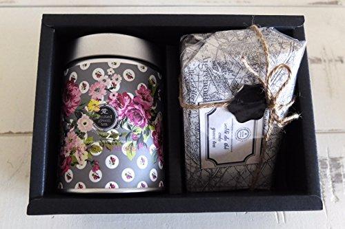 世界緑茶コンテスト金賞受賞茶『白利休』リーフ50g缶入り・煎茶サブレ緑茶味12個入り (リーフ50g/煎茶サブレ緑茶味12個入り)