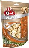 8in1 Delights Chicken Kauknochen Größe XS, gesunder Kausnack für sehr kleinere Hunde von 2 bis 12 kg mit hochwertigem Hähnchenfleisch eingewickelt in Rinderhaut, 1 Beutel je 21 Stück (1 x 252 g)