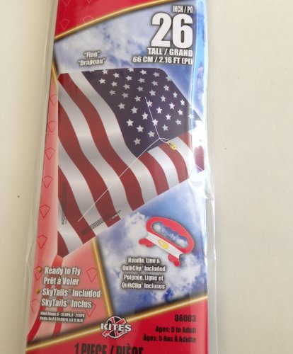 "26"" Poly Kite Ready to Fly ""Flag"" Design Stars and Stripes USA"