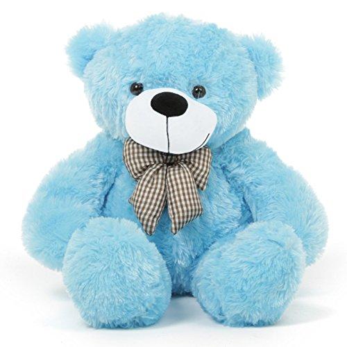 61f429ba756 2 Feet Blue Teddy Bear with a Bow Price in India
