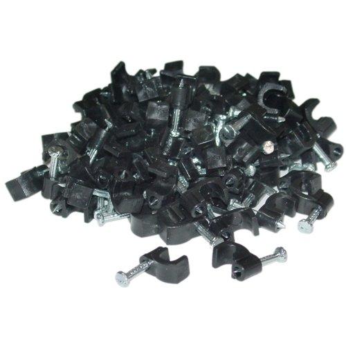 C&E Cne41329 Rg59 Cable Clip, 100 Pieces Per Bag, Black
