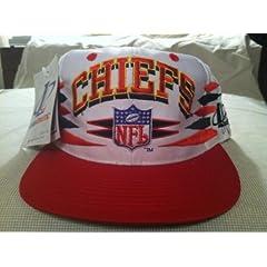 Kansas City Chiefs Vintage White Spike Snapback Hat by Logo Athletic