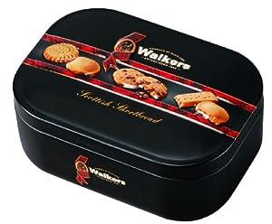 Walkers Assorted Shortbread Keepsake Tin, schottisches Buttergebäck, Kekse, Plätzchen, Geschenkdose, 130g