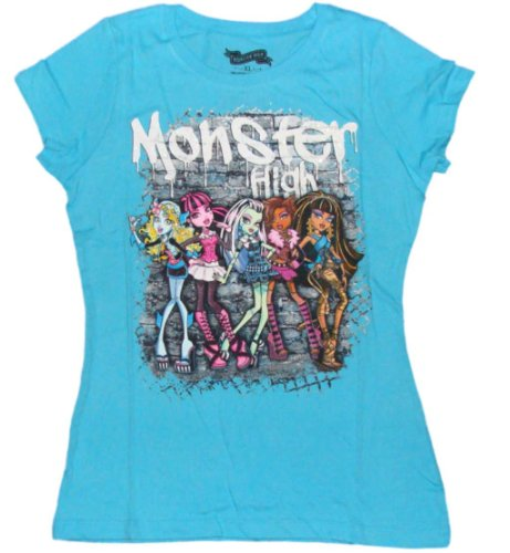 Monster High Graffiti 5 Character Girls T-shirt