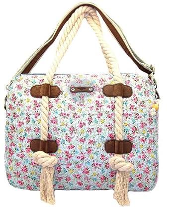 Rocket Dog Thistle Laptop Bag Thistle Pink Floral Print 17 Inch Laptop Bag
