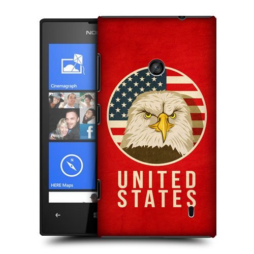 Luckyprincess Designs United States Patriotic Animals Protective Snap-On Hard Back Case Cover For Nokia Lumia 520 525
