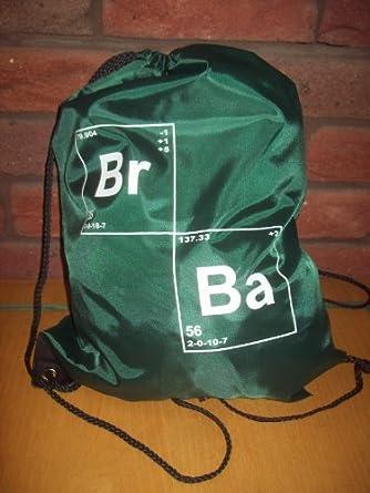 BREAKING (Bromin) BAD (Barium) DRAWSTRING TOTE BAG In GREEN