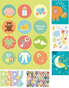 Peaceable Kingdom / Card Set for New Babies - Box of 12 cards and envelopes