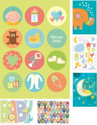 Peaceable Kingdom / Card Set For New Babies - Box Of 12 Cards And Envelopes front-610005