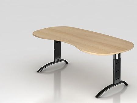 Supporto tavolo C 200x 100cm, rovere/argento RCHW renale.