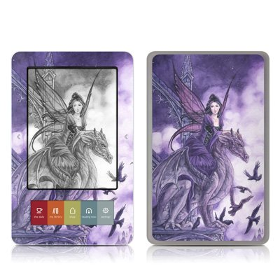 Dragon Sentinel Design Protective Decal Skin Sticker for Barnes and Noble NOOK (Black and White LCD) E-Book Reader - Matte Satin Coating